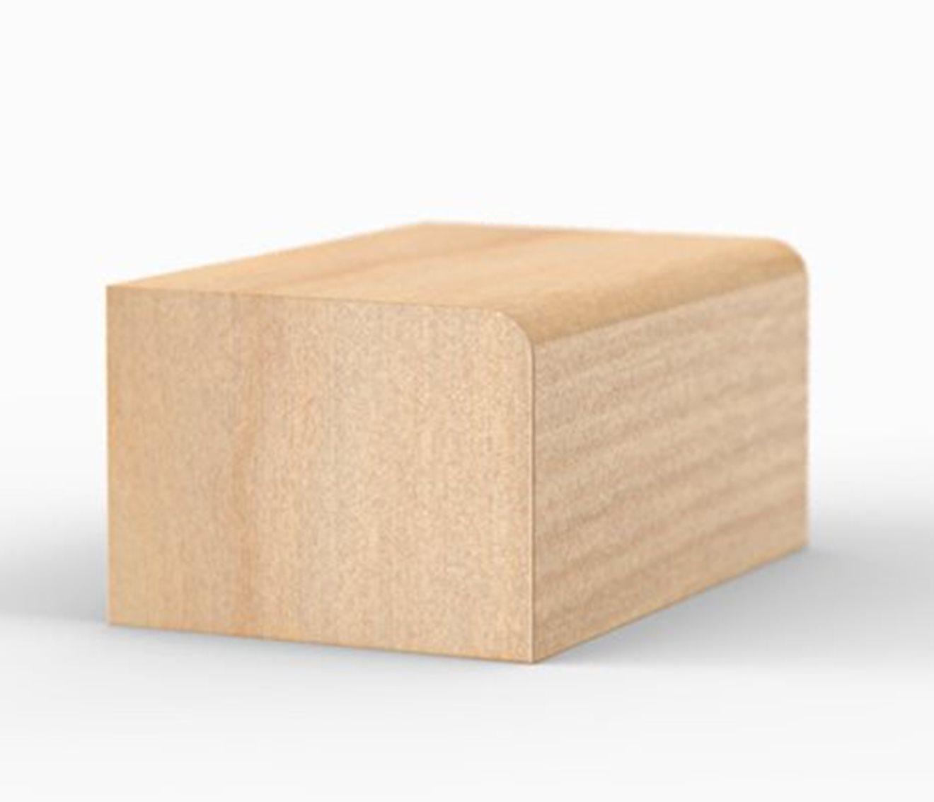 Quart de rond carré 1/2″ X 11/16″.